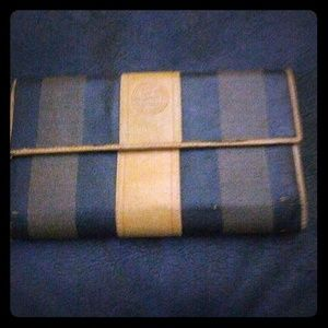 Vintage Fendi penguin striped wallet